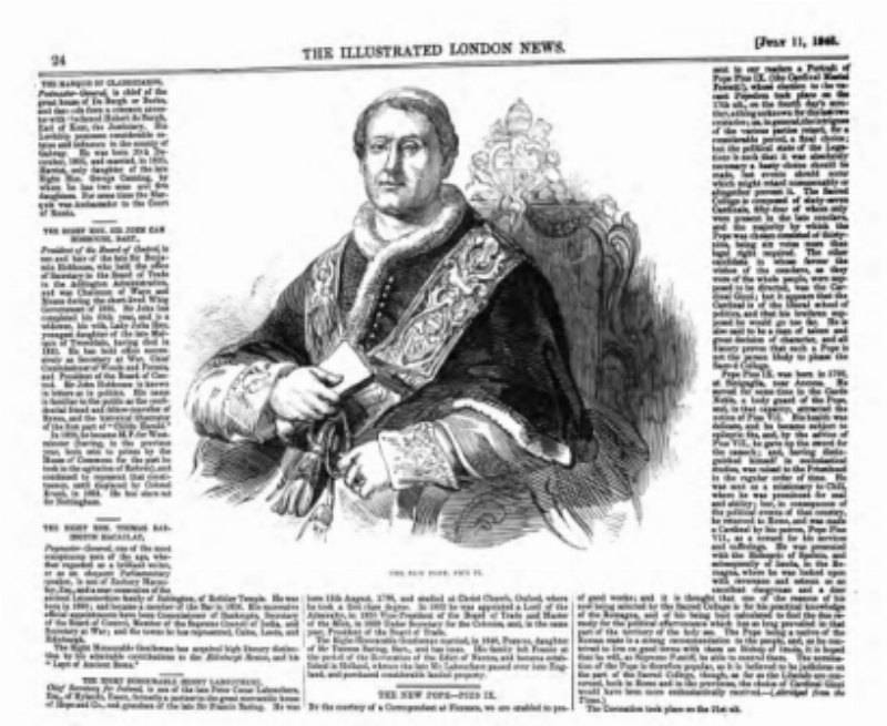 Article in the 1846 Illustrated  London News