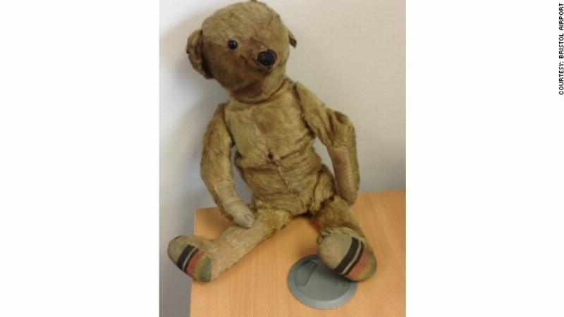 Lost teddy bear at Bristol Airport