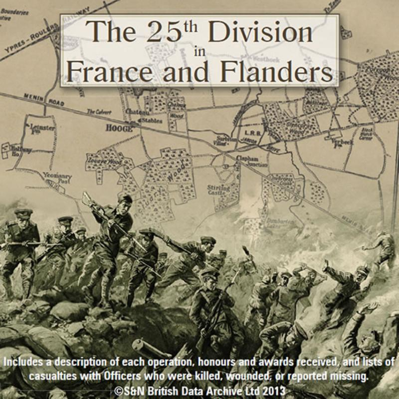 The 25th Division in France and Flanders