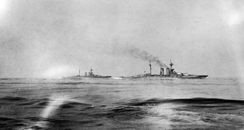 HMS Warspite and Malaya