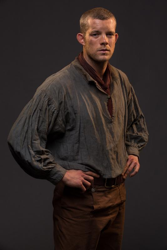 Programme Name: Banished - TX: n/a - Episode: n/a (No. n/a) - Picture Shows:  James Freeman (RUSSELL TOVEY) - (C) RSJ Films - Photographer: Matt Squire