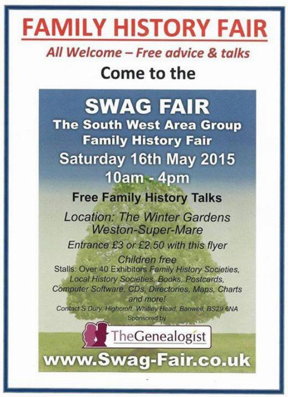 South West Area Group Family History Fair