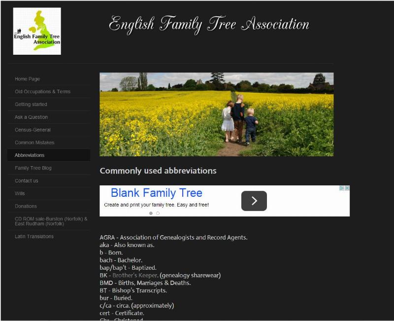 English Family Tree Assoc