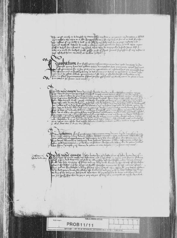 A 1496 Prerogative Court of Canterbury Will from TNA retrieved from TheGenealogist's online collection of Will documents