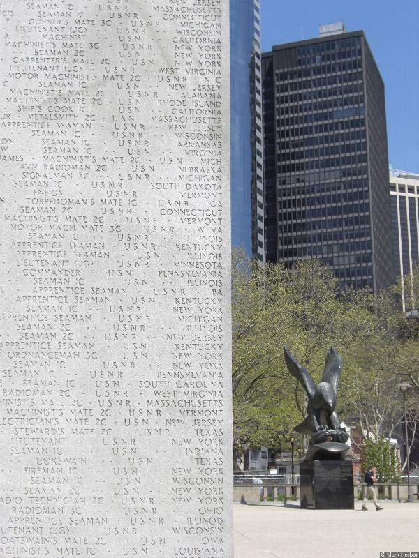 War Memorial at Battery Park, New York, USA, on TheGenealogist