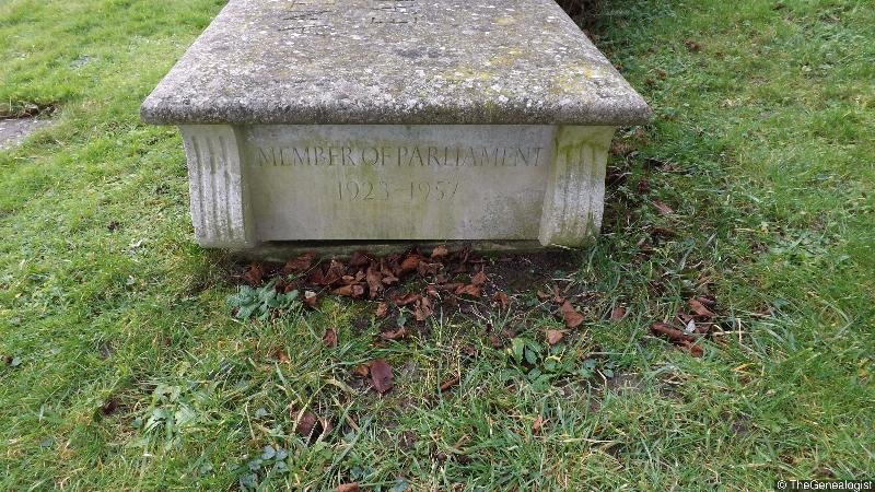 Anthony Eden, Earl of Avon's grave in Alvediston, Wiltshire on TheGenealogist